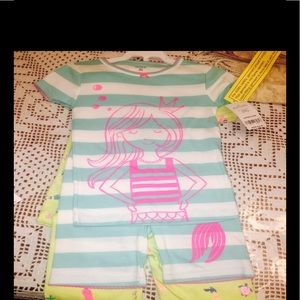 Carter's mermaid girl pj set 4 pc